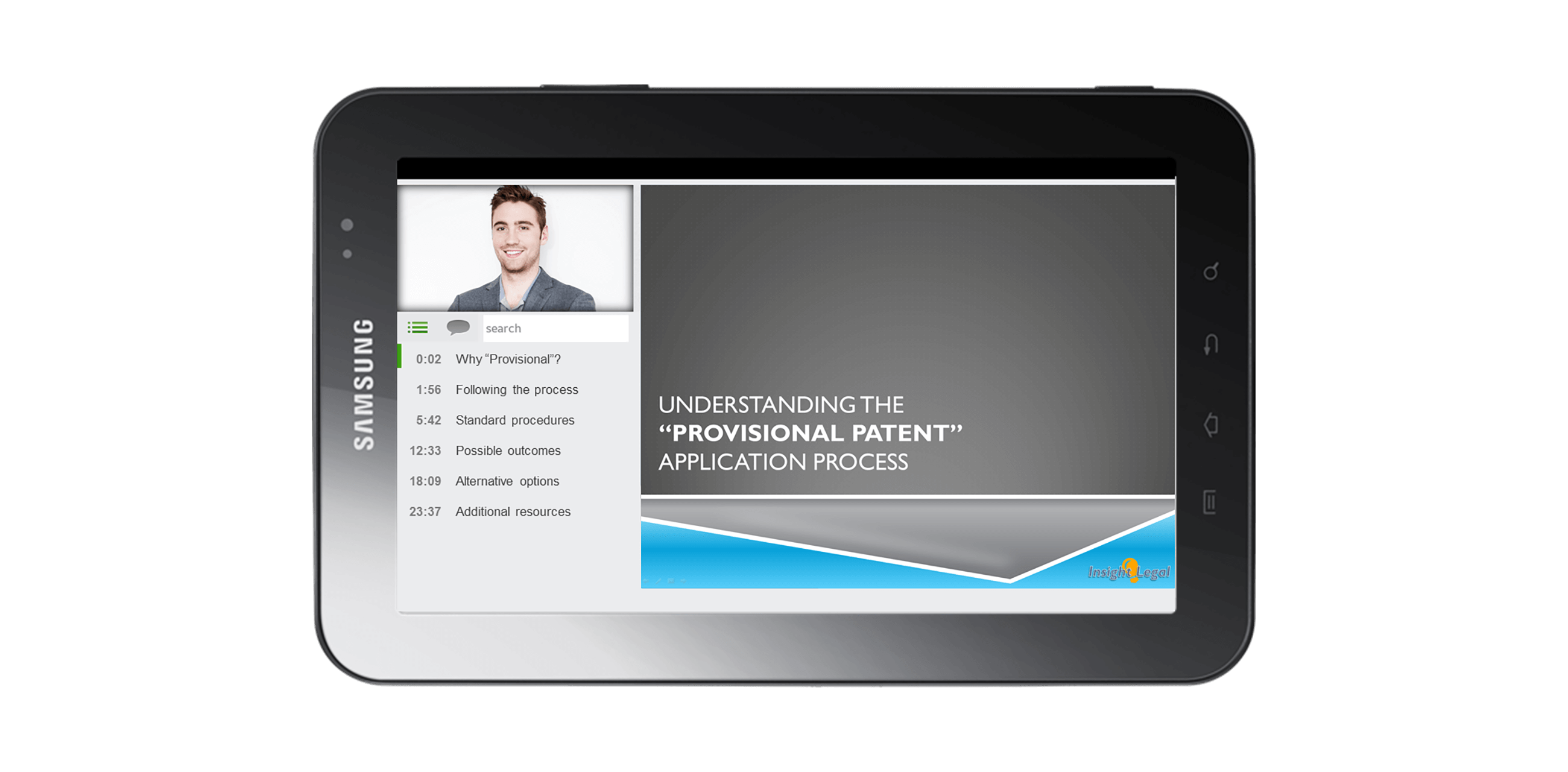 Panopto's mobile video platform enables users to view video securely on Samsung tablets