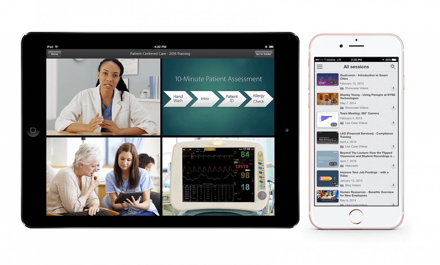 Watch videos from anywhere on any device with Panopto's mobile video player and apps