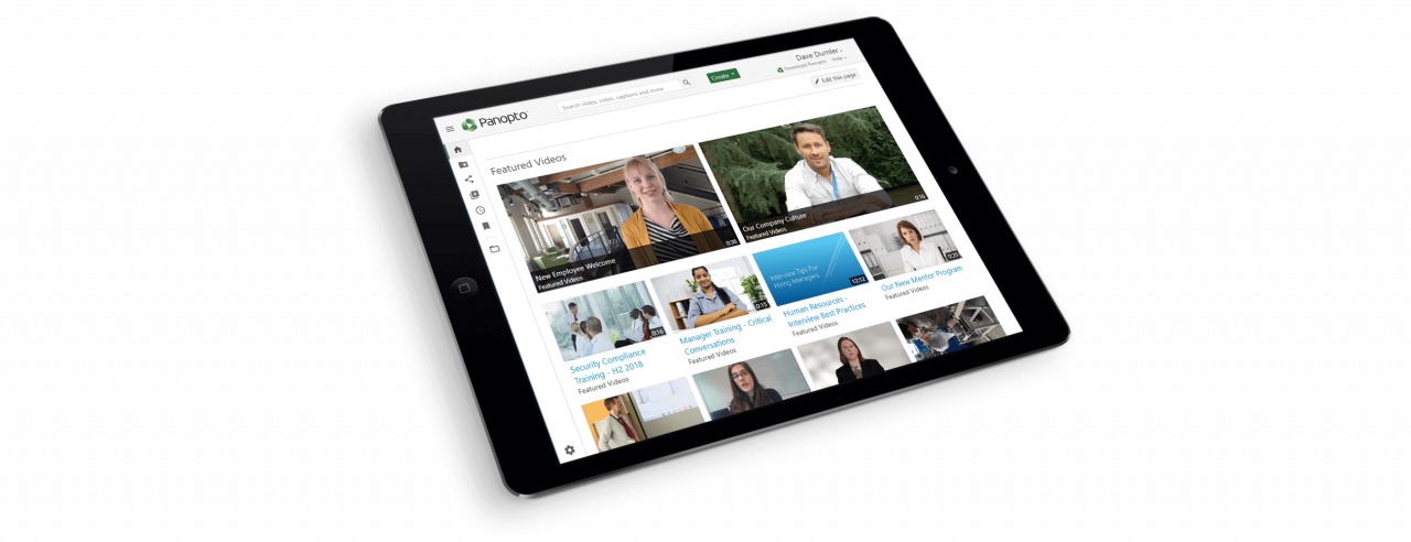 Enable anyone in your organization to view videos securely from anywhere in Panopto's cloud video platform