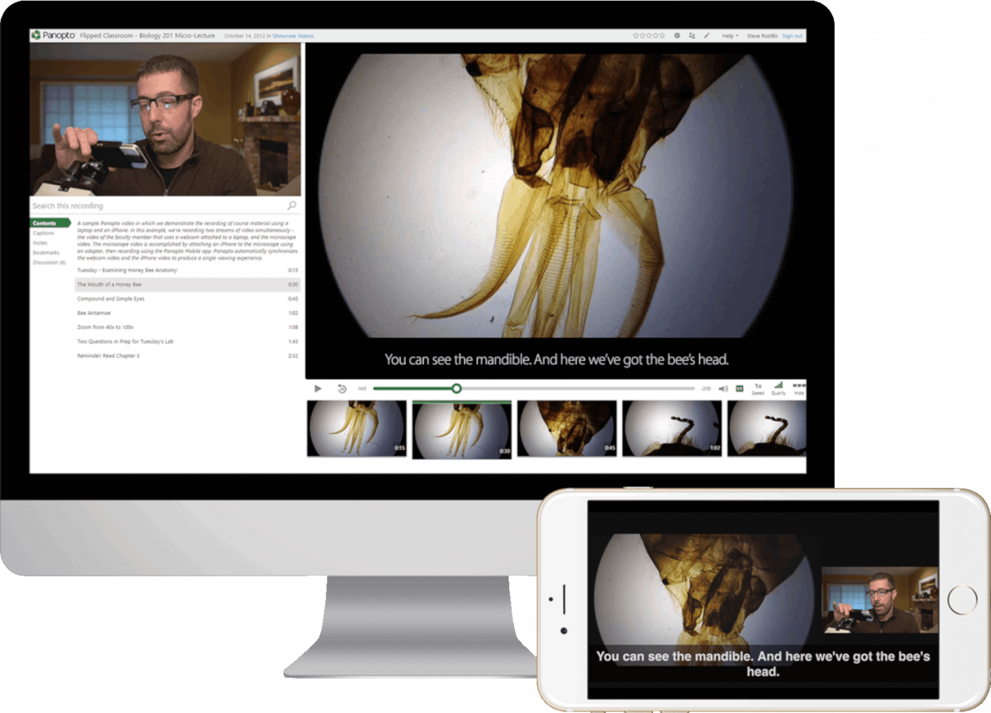 Refine automatically generated closed captions with Panopto's online video editing software