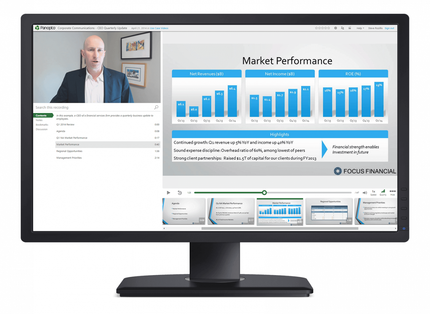 Panopto makes creating and sharing executive video communications simple and easy to scale