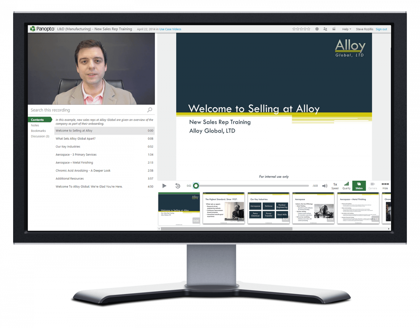 Panopto's video software for onboarding helps you give employees the information they need to succeed