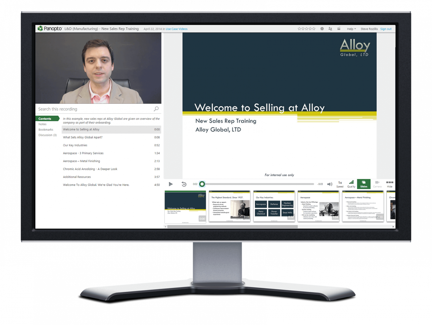 Reduce onboarding time for sales reps with Panopto's sales enablement tools