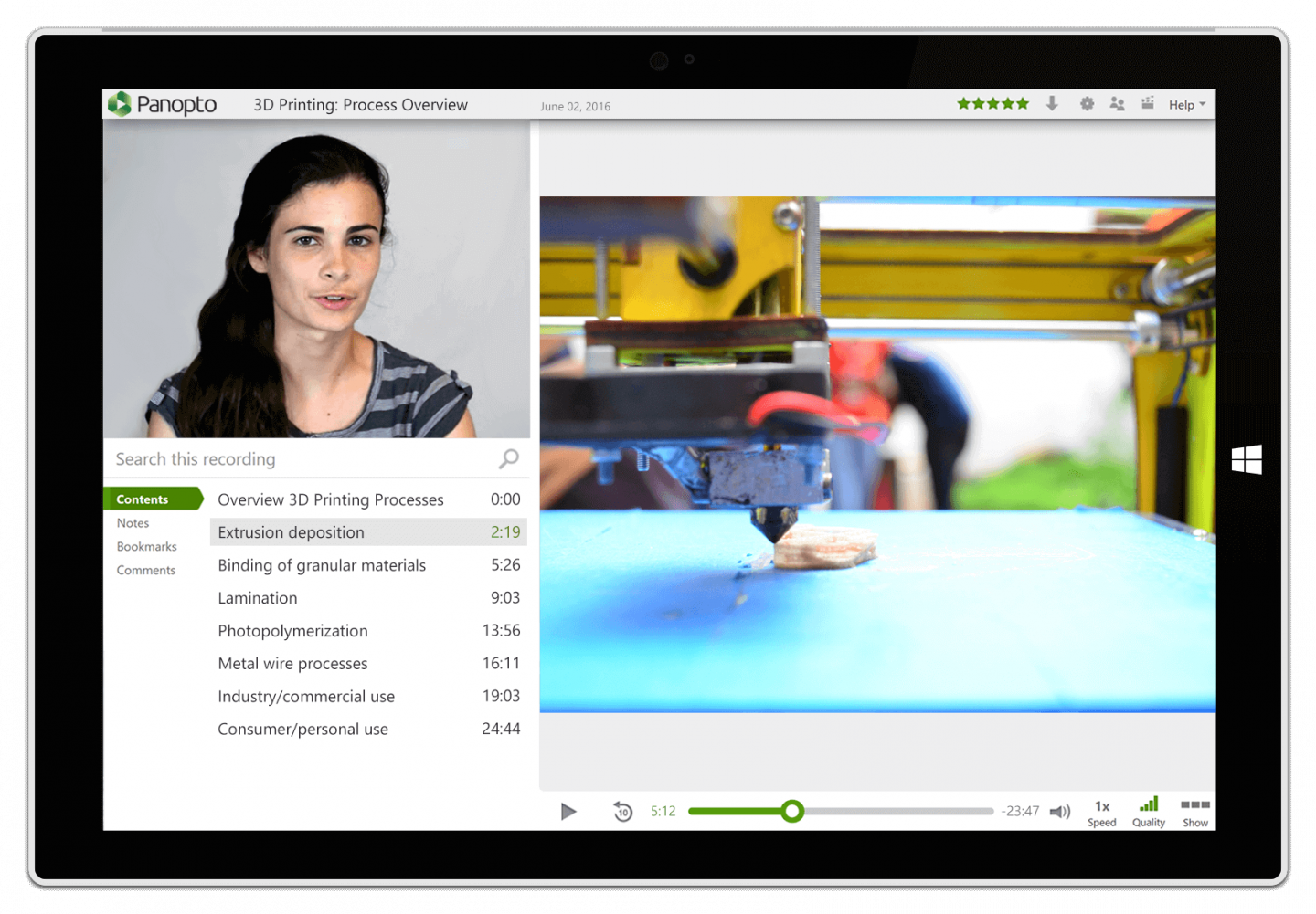 Record detailed lab demonstrations from multiple cameras in high definition with Panopto