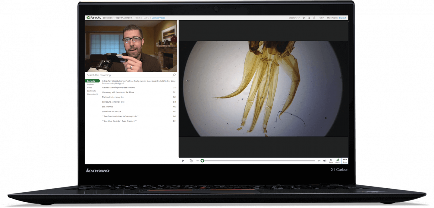 Capture video from any device to record laboratory demonstrations with Panopto