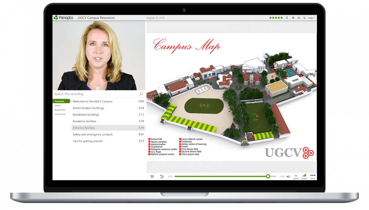 Educate students about campus safety with Panopto's university video solution