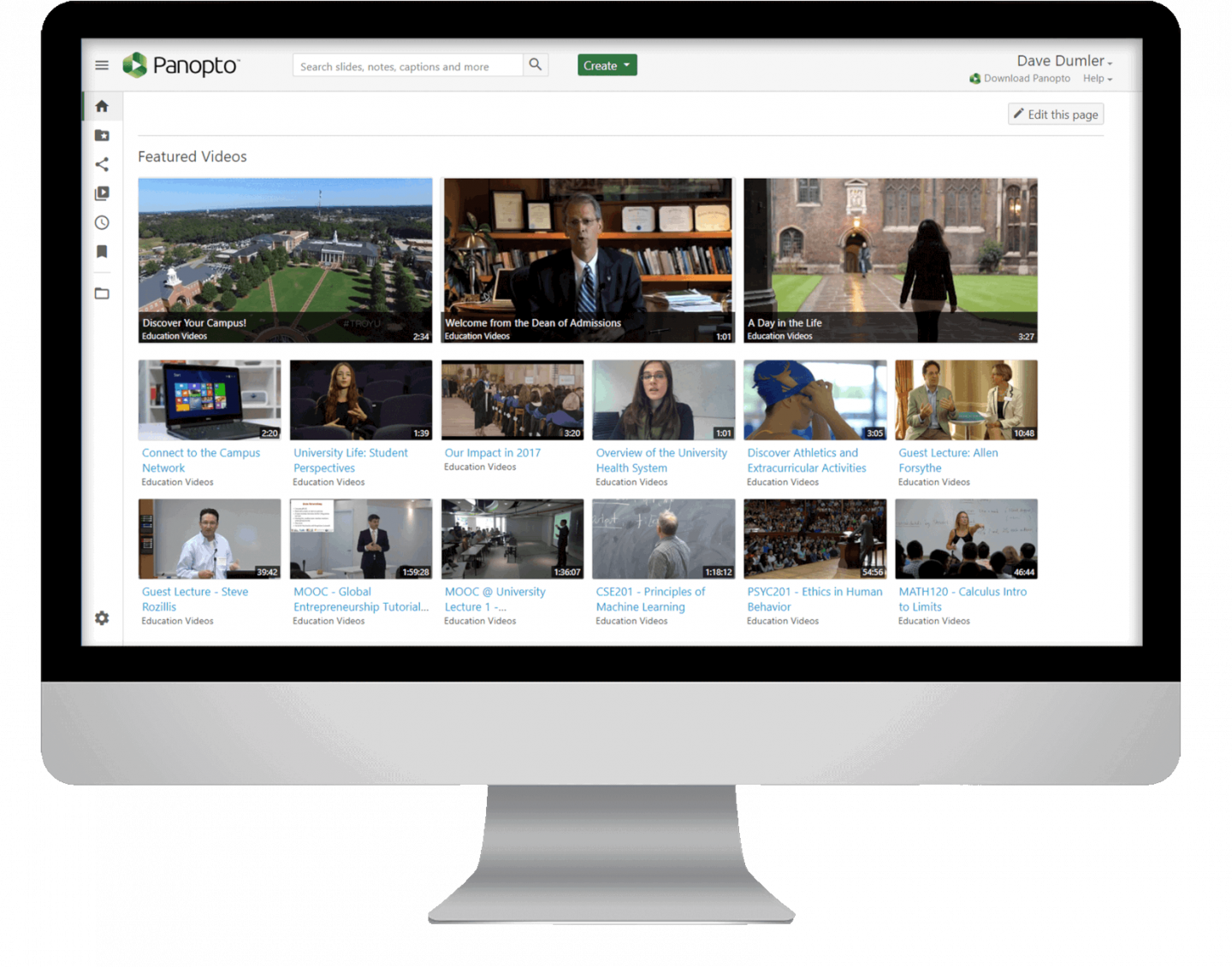 Panopto is a single, secure location for hosting every campus video