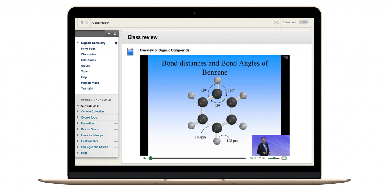Panopto integrates with BlackBoard to add video to your learning management system