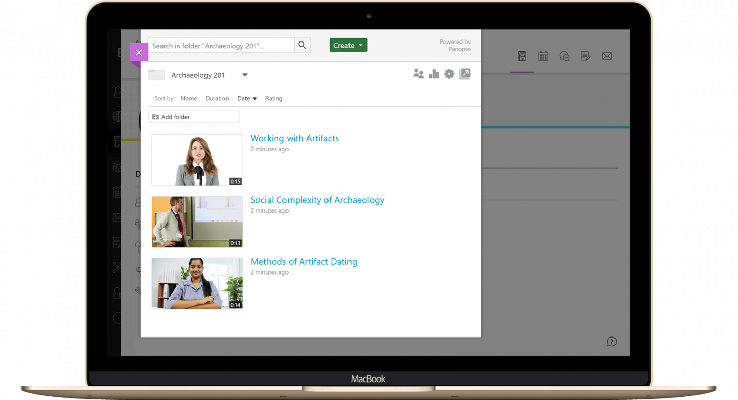 Add video to the Blackboard Learn Ultra experience with Panopto