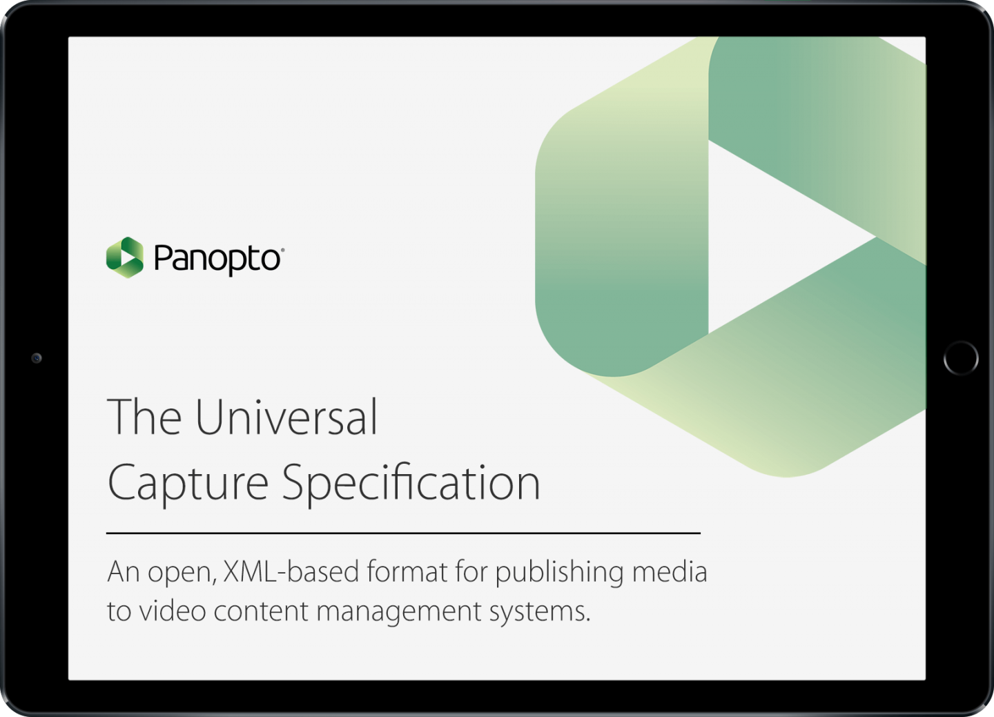 Cattura Video's CaptureCast Pro recorders support the Universal Capture Specification