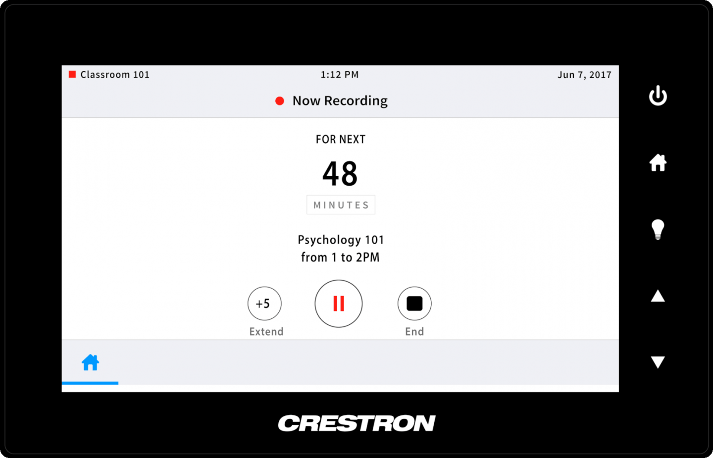 Panopto's Crestron video integration provides a remote control for your meeting room and classroom recordings
