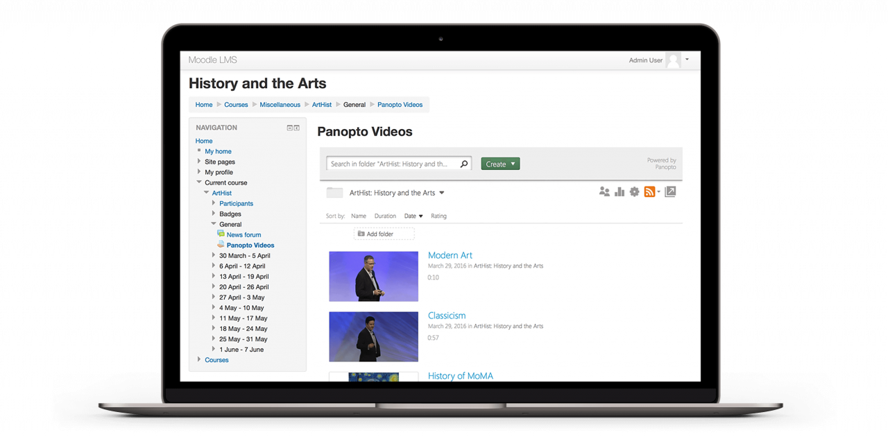 Panopto is the easiest way to support video in your Moodle LMS