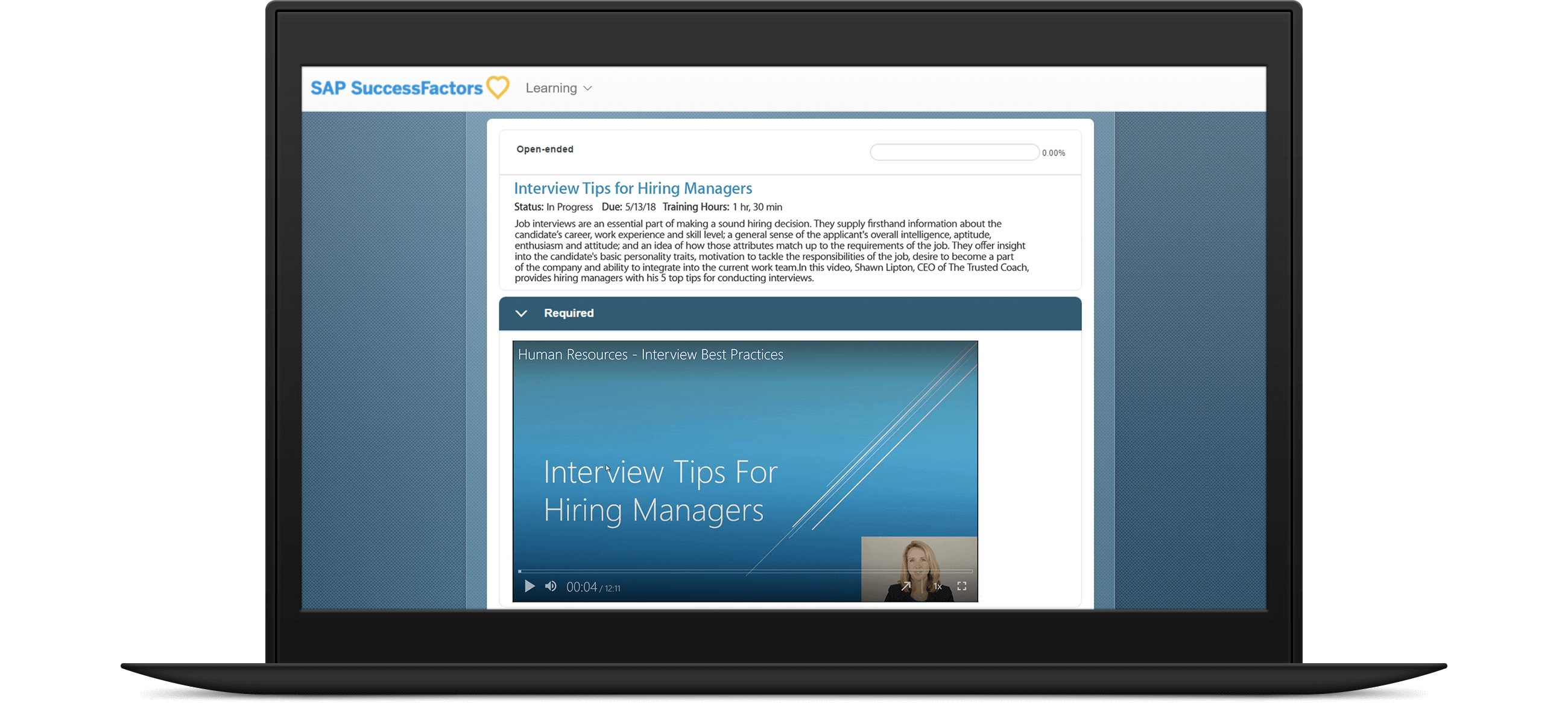 Panopto's SAP SuccesFactors integration enables video playback in your LMS