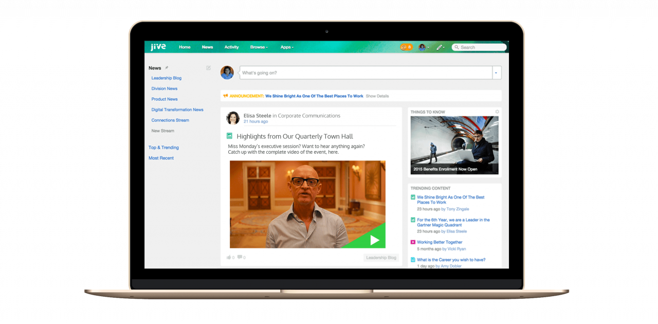 The Panopto app for Jive enables businesses to share and search video content in Jive's social software