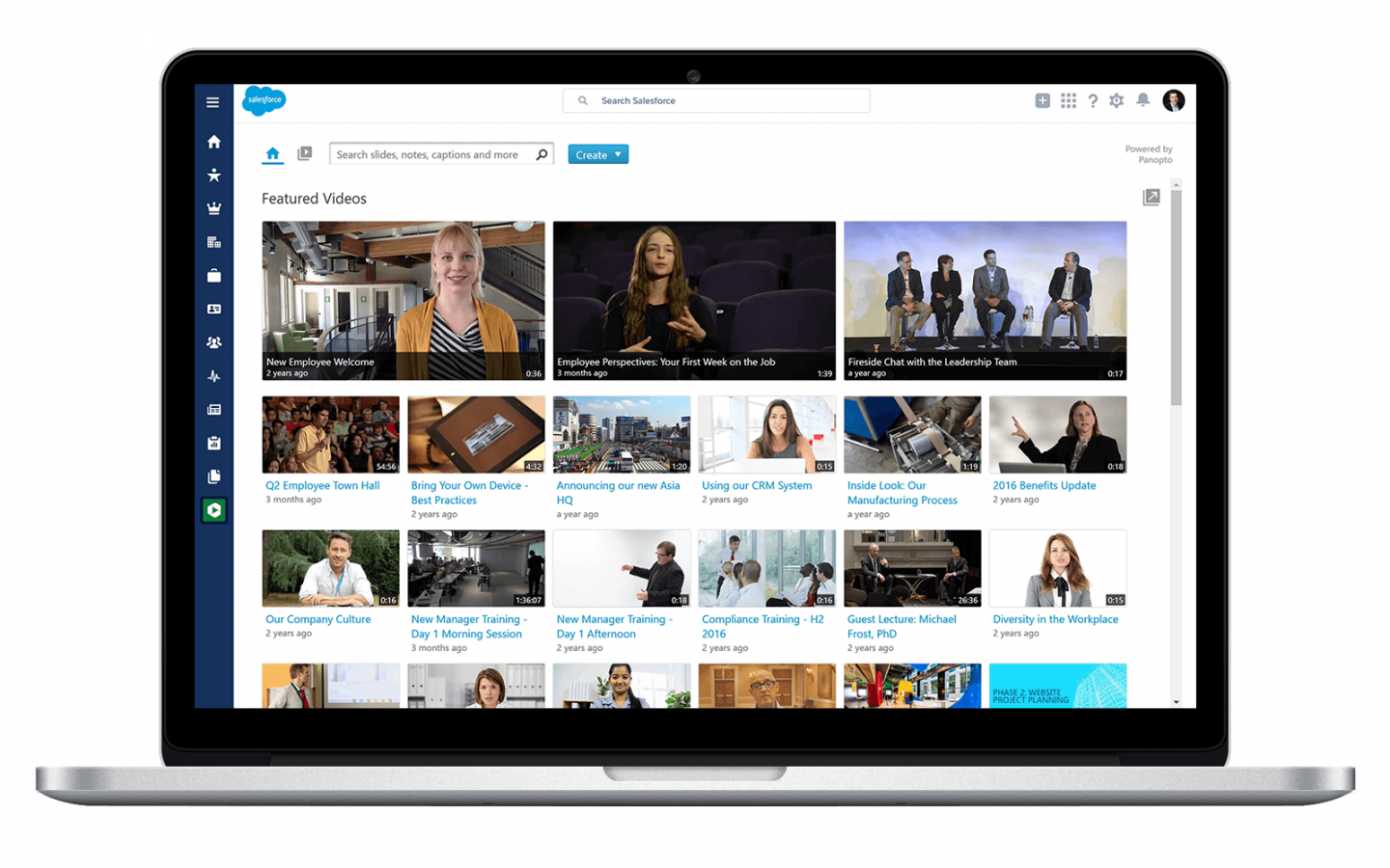 Share your video library in Salesforce with Panopto