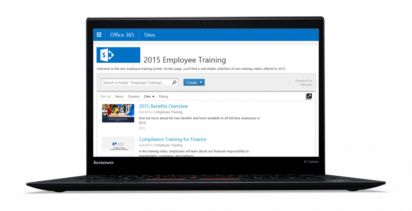 Manage your videos from within your CMS with Panopto's SharePoint integration