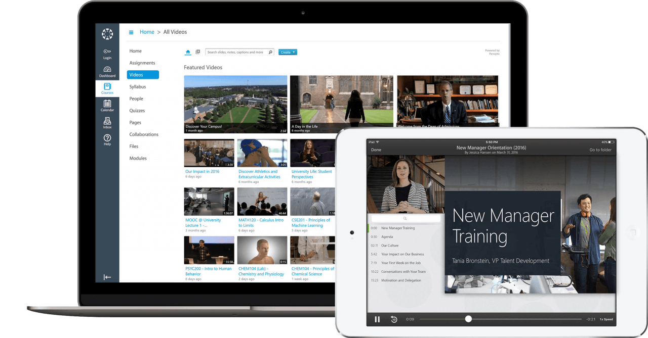 Panopto is a video platform built for businesses and universities