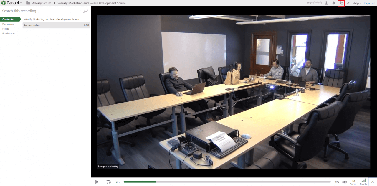Panopto's secure Zoom recording sharing enables control of viewing permissions