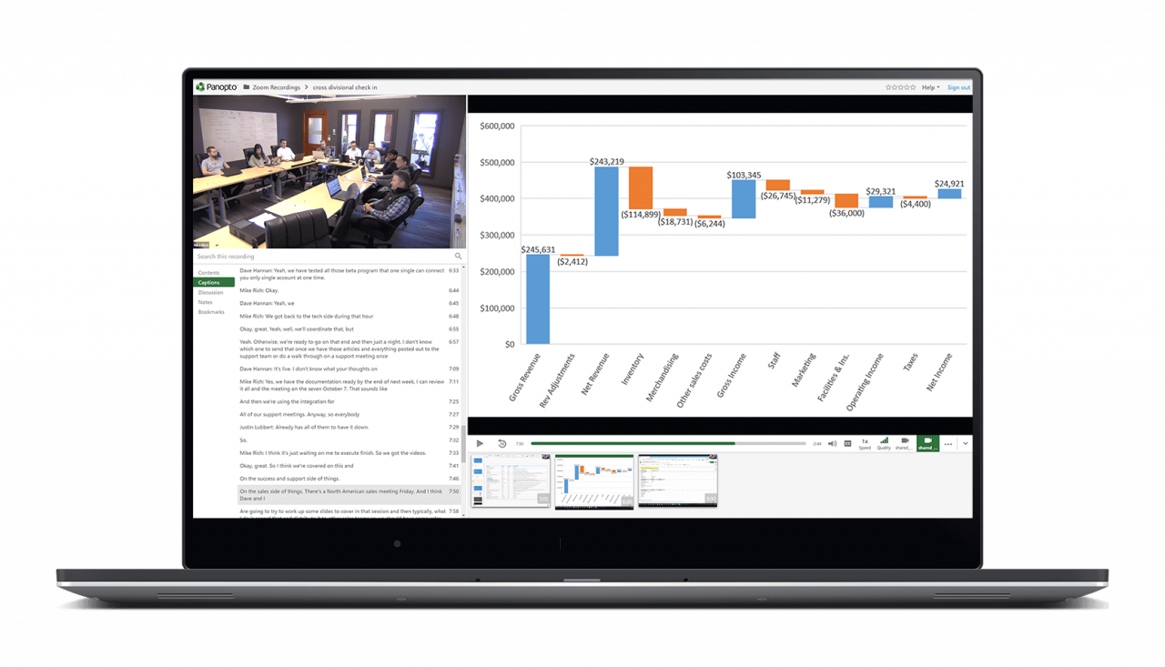 Watch Zoom meeting recordings with the Panopto integration