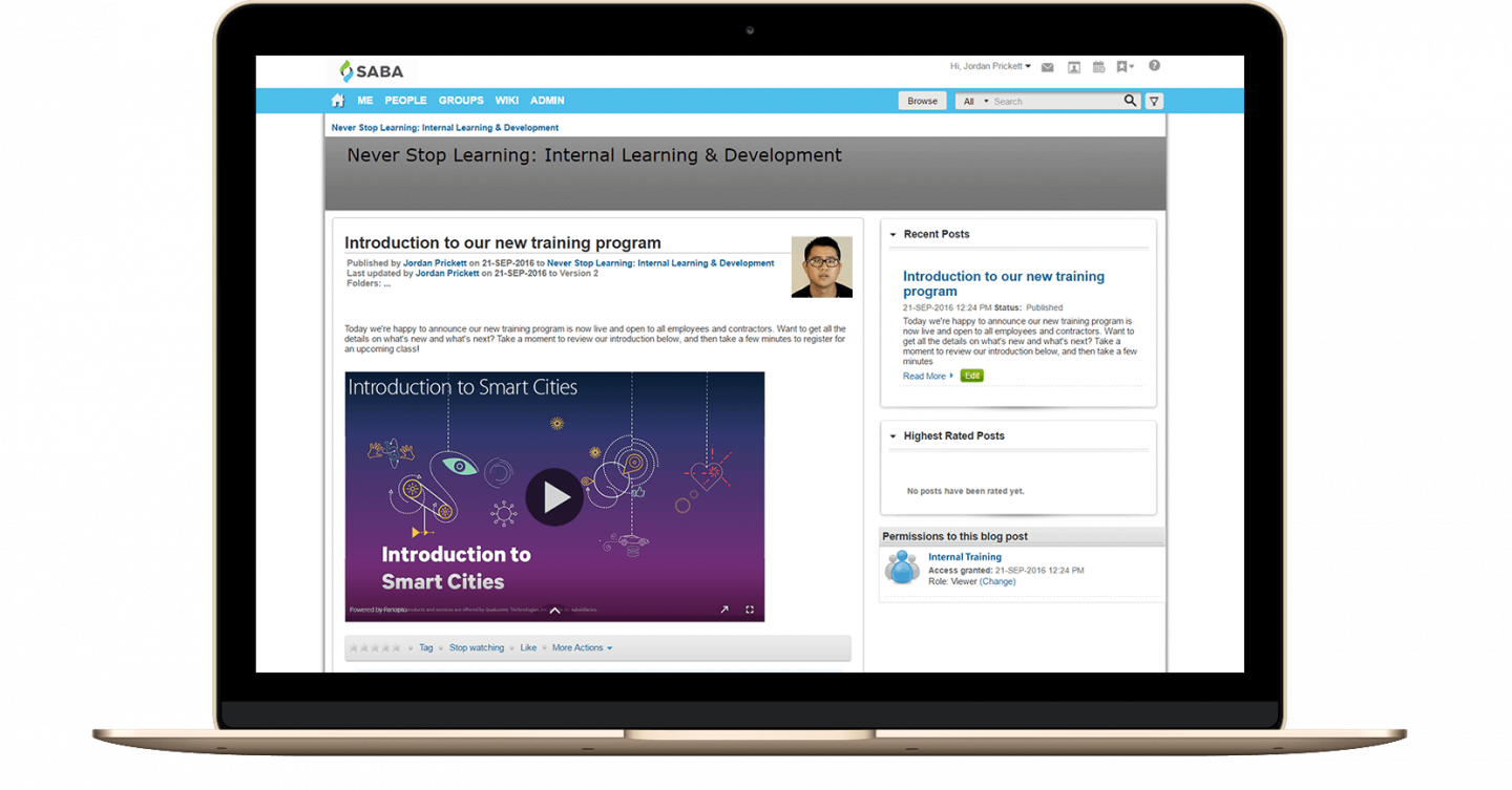Panopto's video content management software easily integrates with your LMS