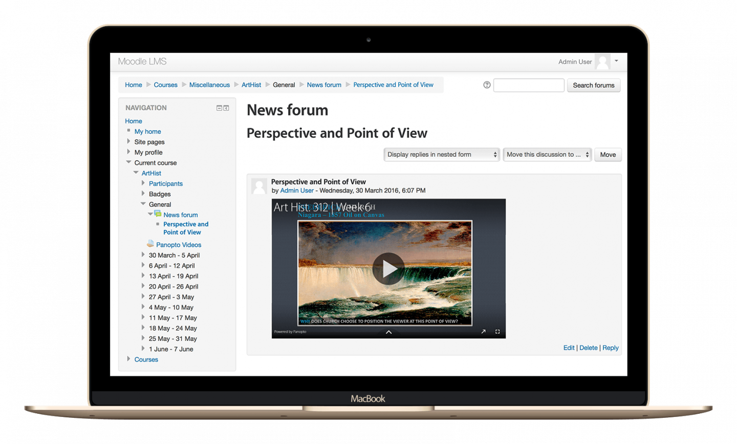 Easily provision and publish course videos with Panopto's Moodle integration