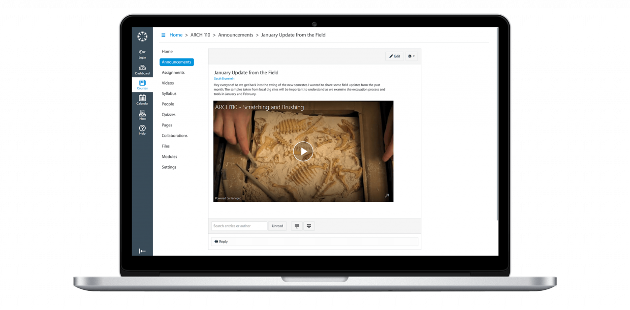 Panopto integrates with Canvas to support video in your LMS
