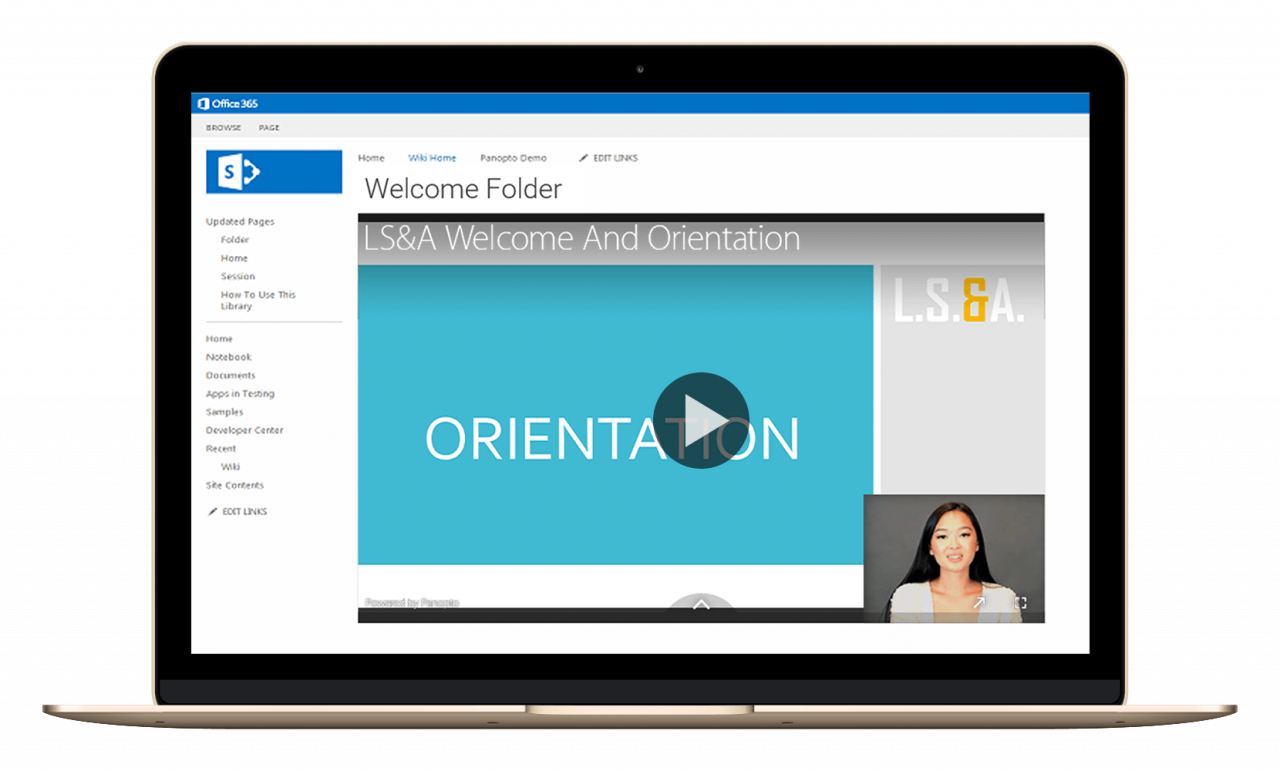 Bring video management, search, recording, analytics, and more to Microsoft SharePoint with Panopto