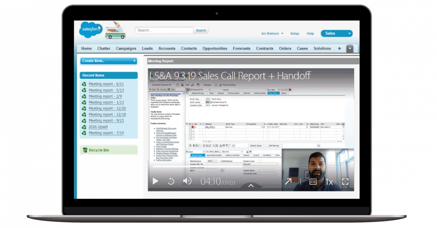 Record and upload videos, then attach them to accounts and opportunities with Panopto's Salesforce integration