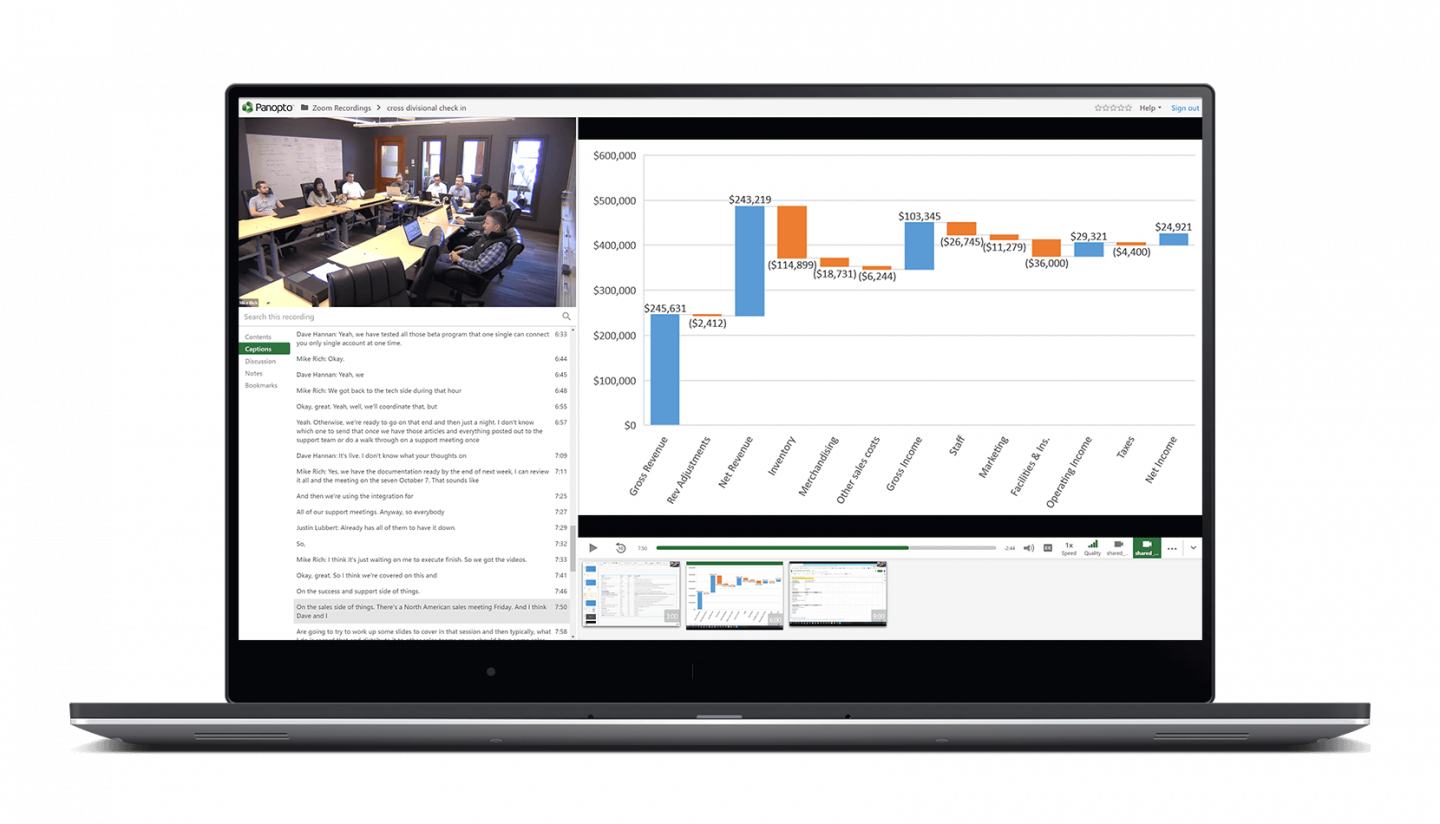 Panopto video collaboration tools