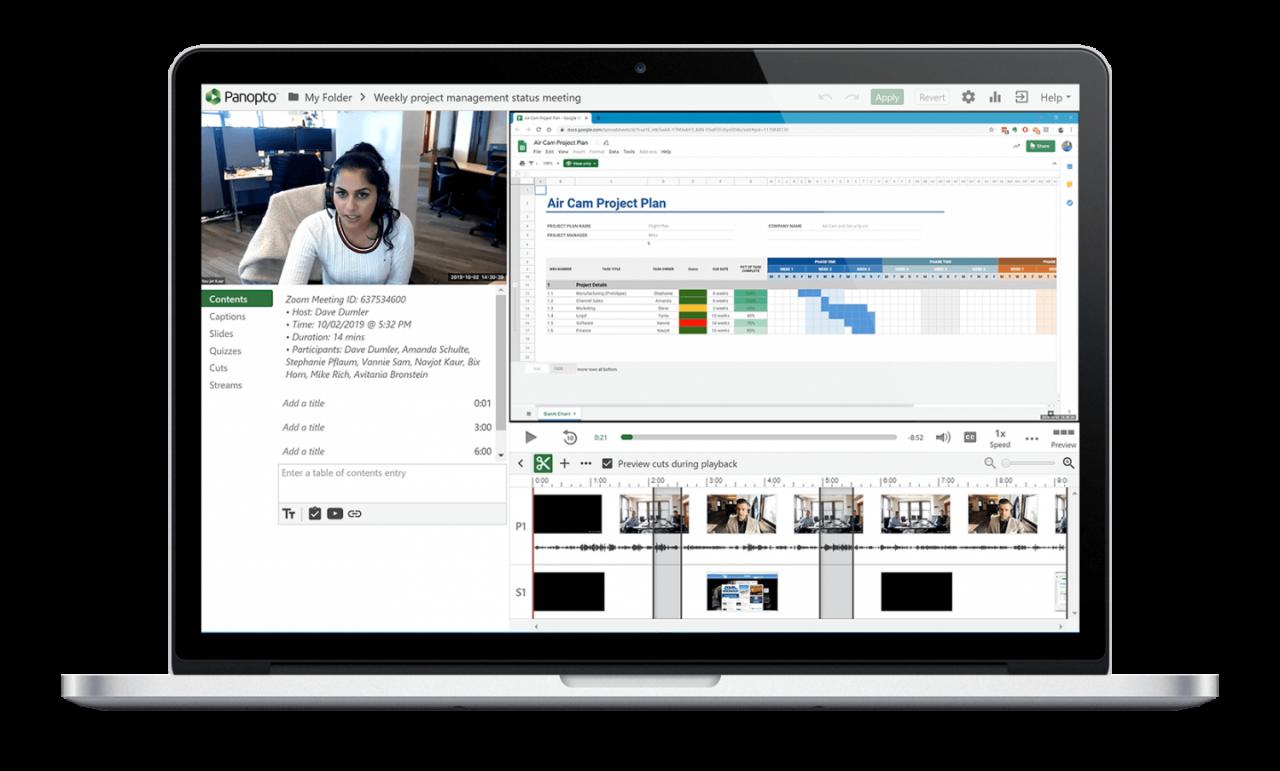 Das Videoportal von Panopto lässt sich in Ihre vorhandenen Unified-Communications-Tools wie Zoom und Skype integrieren