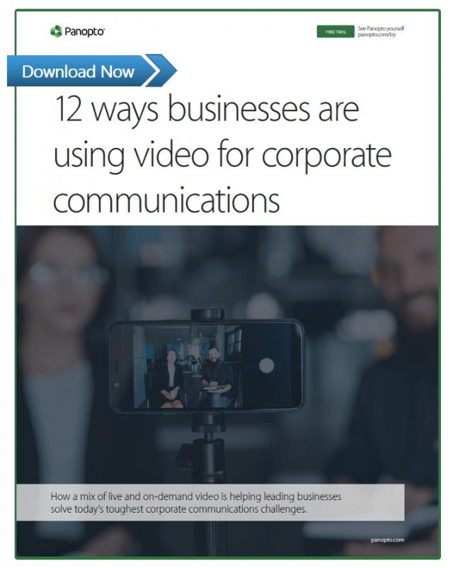 Les 12façons dont les entreprises utilisent la vidéo pour leurs communications