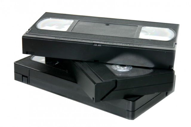 Old corporate communications on VHS