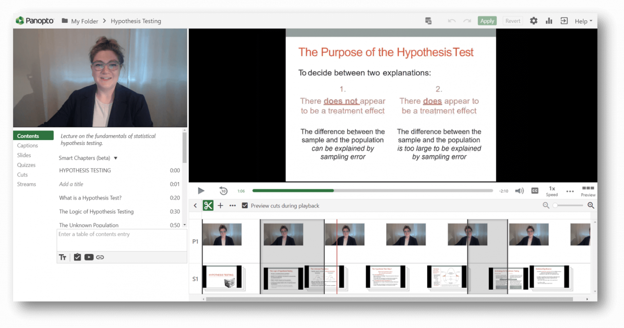Create training videos optimized for learning with Panopto
