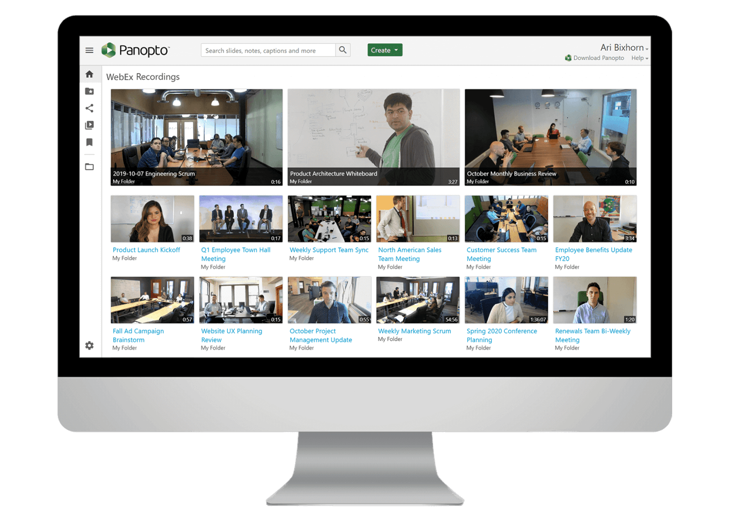 Manage Webex Meetings recordings more efficiently with Panopto.