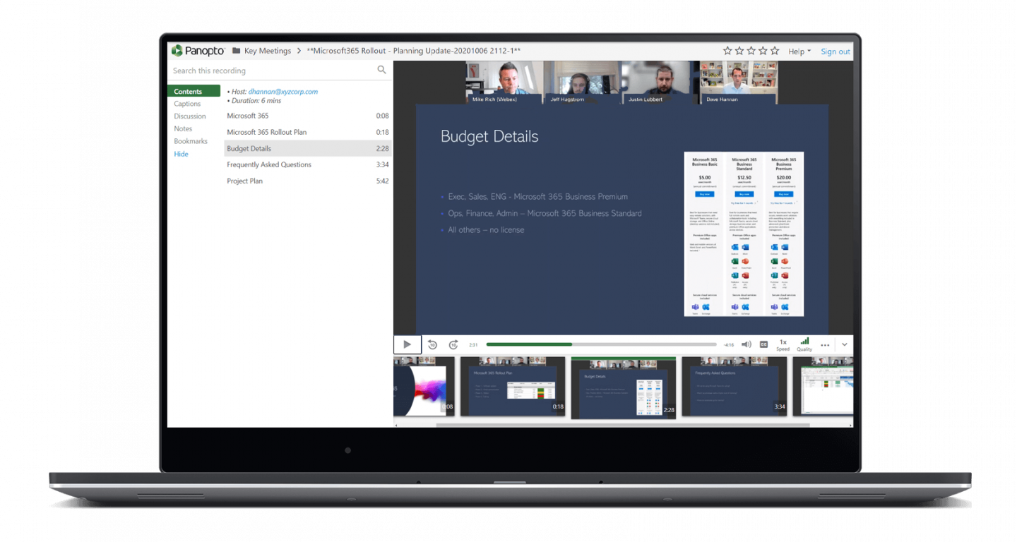 Easily play Cisco Webex Meetings recordings with just a click, no downloads required