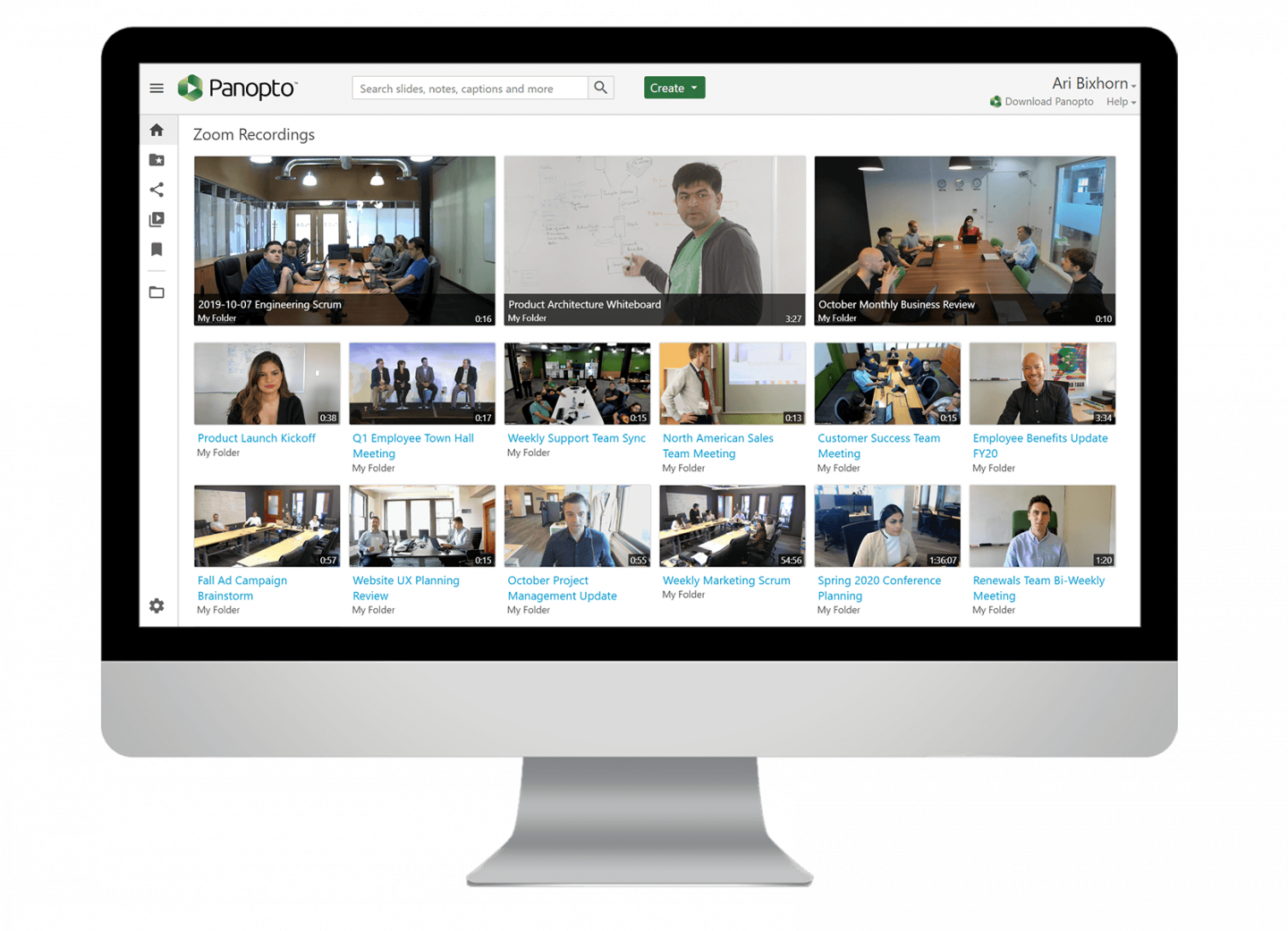 Secure and share meeting recordings at scale with Panopto's meeting intelligence solutions.