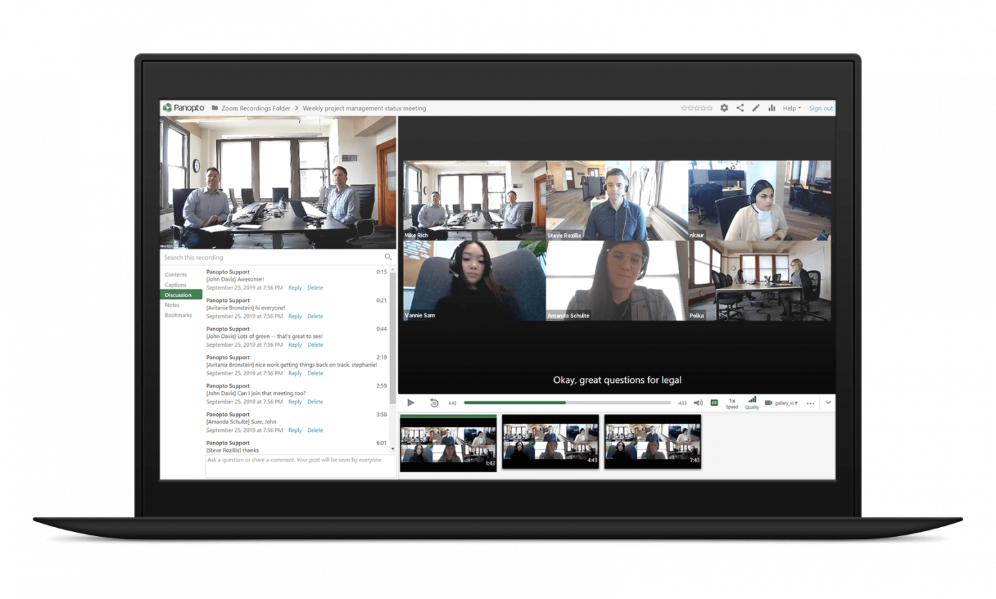 Panopto transcribes every work spoken in meetings automatically