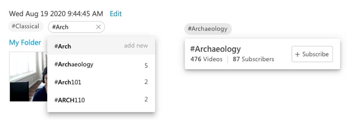 Video tagging and subscriptions enable rapid knowledge sharing and discovery within Panopto