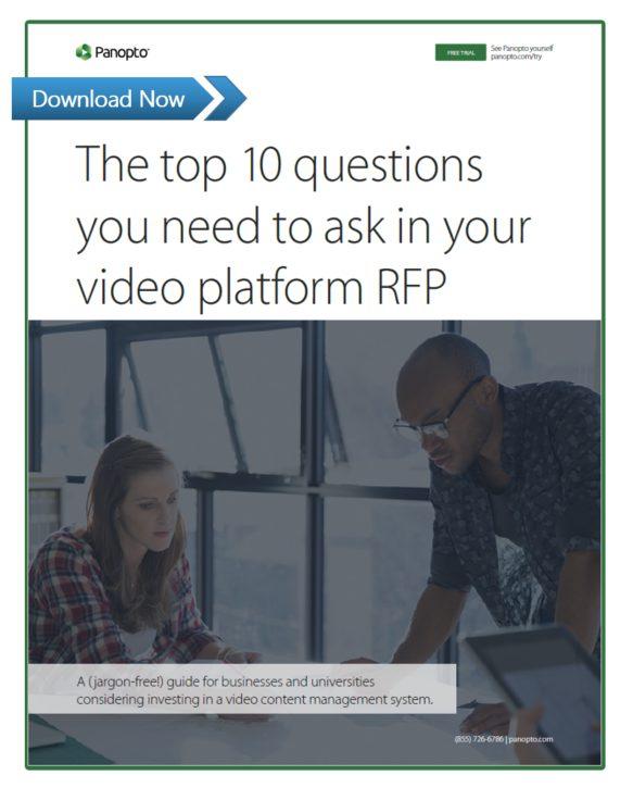 動画プラットフォームのRFPで聞くべき質問トップ10