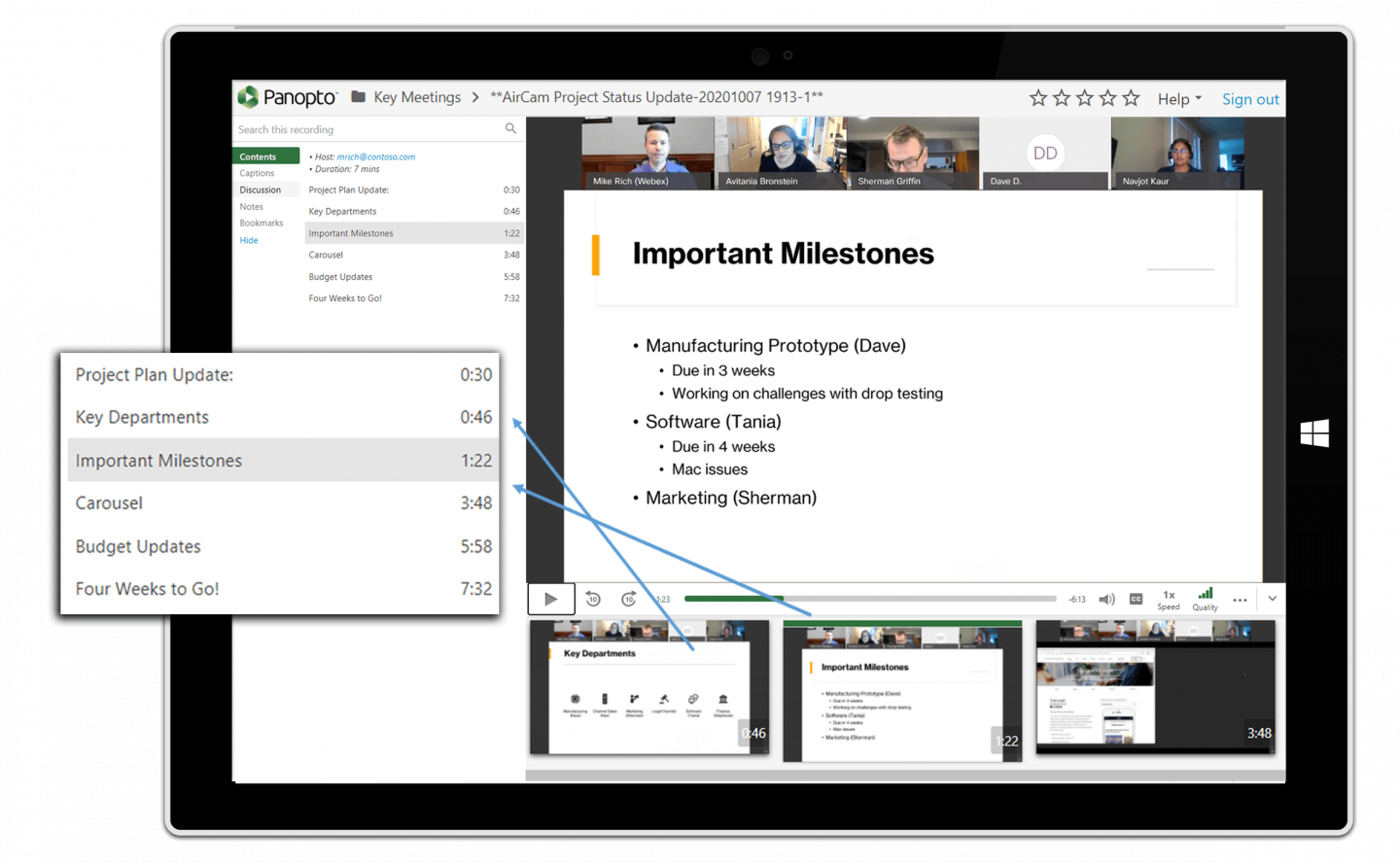 Panopto's online training platform engages employees in learning, anytime, anywhere.