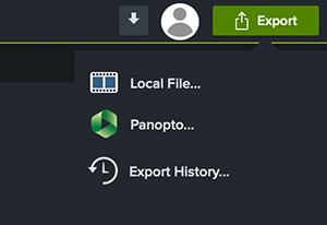 Export-Menü